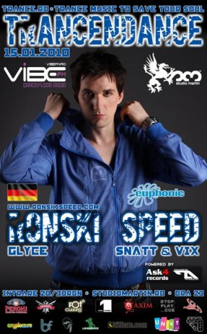 Ronski Speed in Bucharest 2010 Flyer