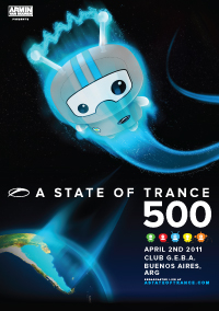 A state of trance 500 Buenos Aires